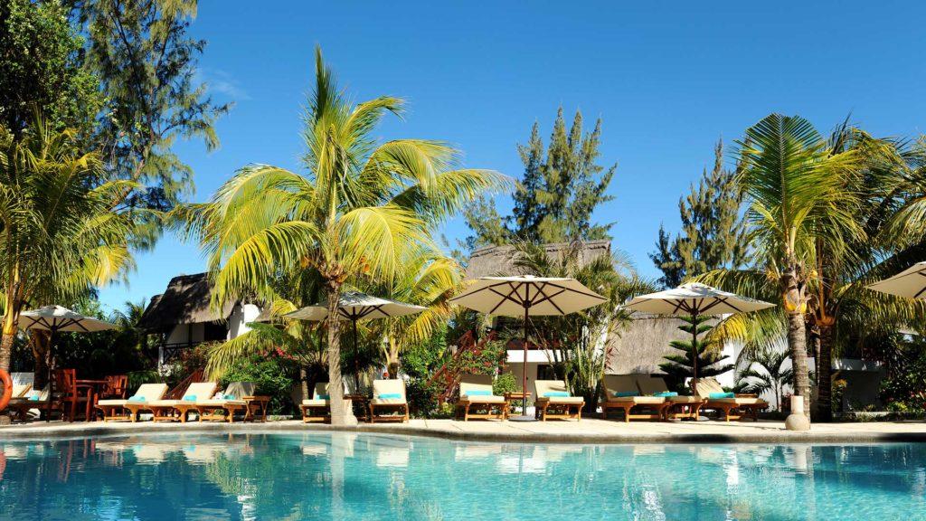 Doin De Mire Attitude Mauritius Resort Pool Palms Holiday